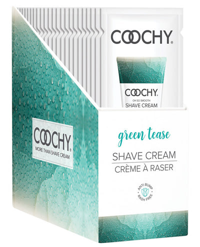 Coochy Shave Cream Green Tease Foil 15ml 24 Pieces Display