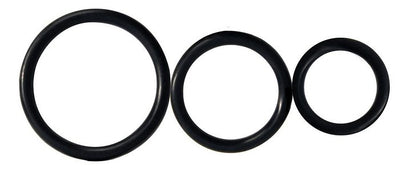 Rooster Control Rings Black 3pk