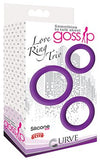 Gossip Love Ring Trio Violet
