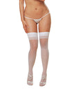 Thigh High Sheer White One Size Queen Inmoulinin