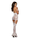 Lace Garter Dress White One Size