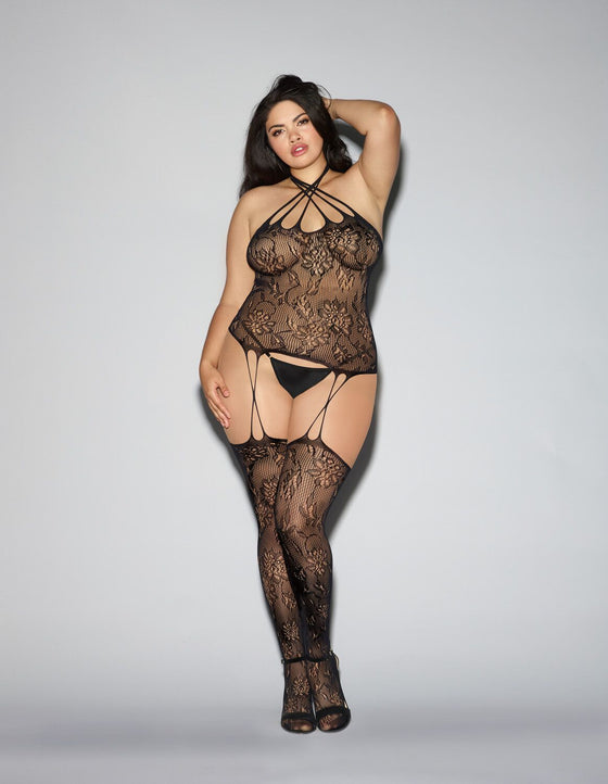 Bustier Bodystocking Queen Osq Blk