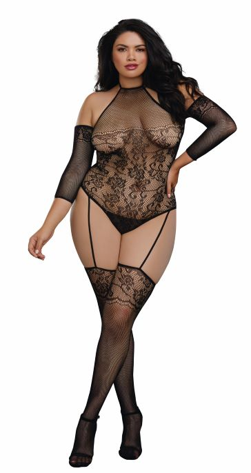 Teddy Body Stocking Dmd One Size Queen