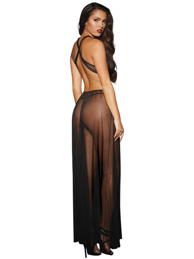 Gown & G String Black One Size
