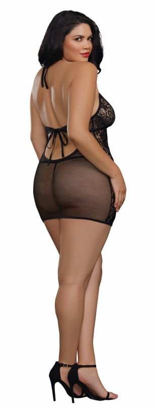 Chemise & GString Dmd One Size Queen