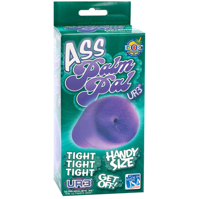 Palm Pal Frosted Ultraskyn Masturbator Ass Purple