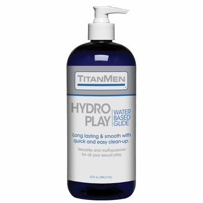 Titanmen Hydro Play Water Based Glide 32 Oz.