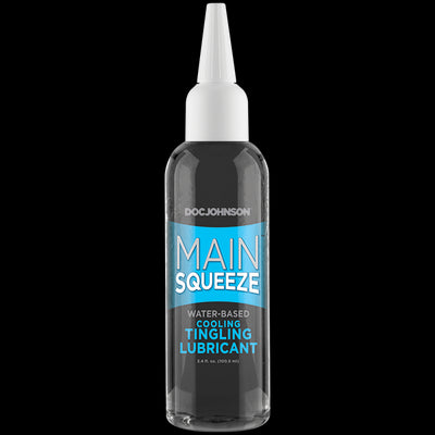 Main Squeeze Cooling Tingling Water Based Lubricant 3.4 Oz.