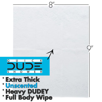 Dude Shower 10pk Singles For Travel