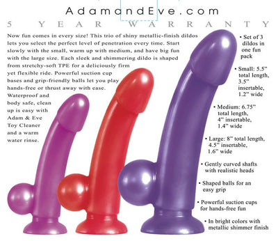 Adam & Eve Eve's Dildo Fun Pack