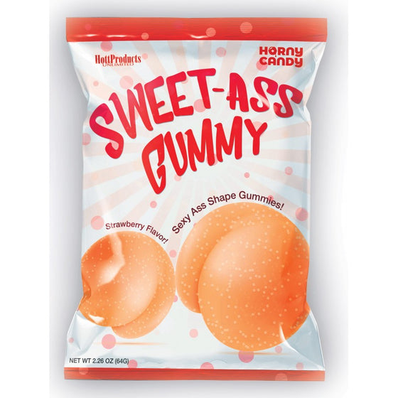 Sweet Ass Gummy Butt Shaped Gummies 12 Pieces Display
