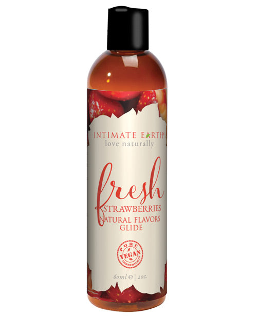 Intimate Earth Fresh Strawberries Glide 2 Oz.