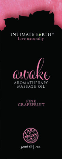 Intimate Earth Awake Massage Oil Foil Sachet 1 Oz.