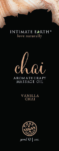 Intimate Earth Chai Massage Oil Foil Sachet 1 Oz.