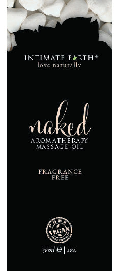 Intimate Earth Naked Unscented Massage Oil Foil Sachet 1 Oz.