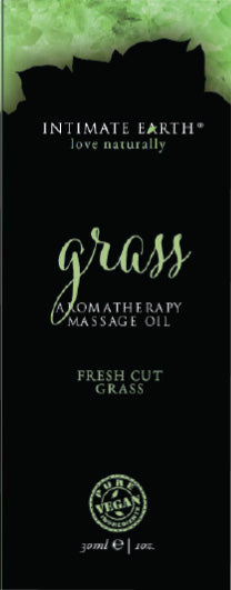 Intimate Earth Grass Massage Oil Foil Sachet 1 Oz.