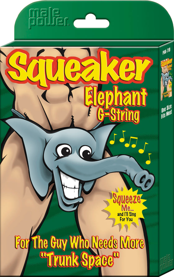Squeaker Elephant GString Assorted