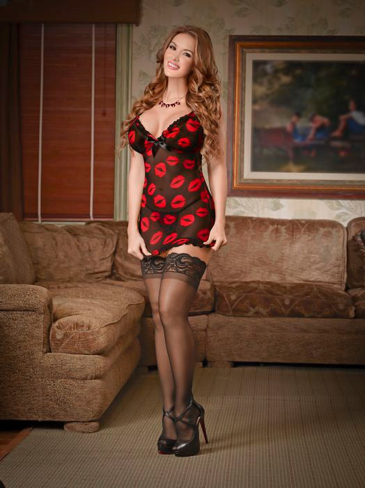 Chemise & G String Set Lips Medium