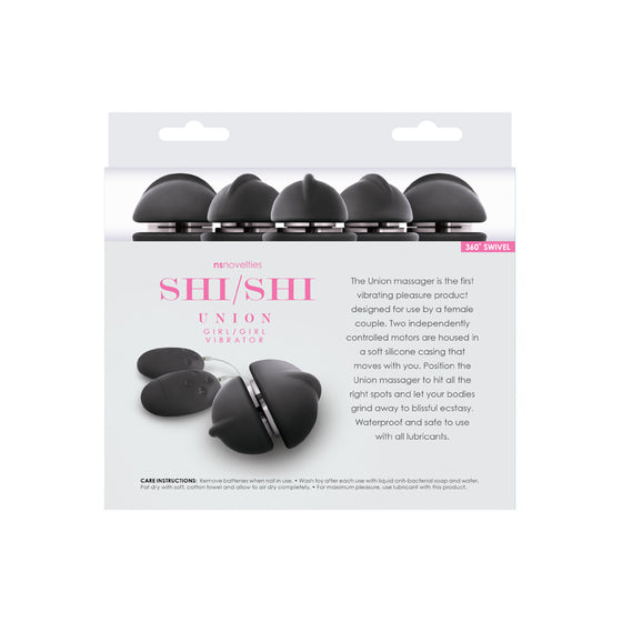 ShiShi Union GirlGirl Vibrator Black