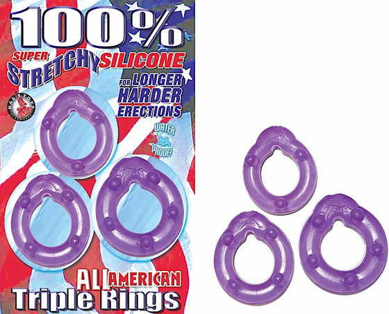 All American Triple Rings Purple