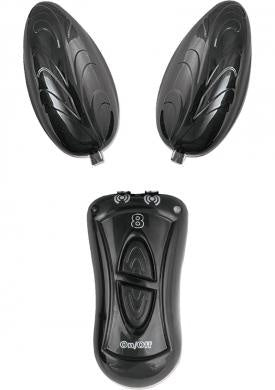 Ebony & Ivory Dual Vibrating Eggs Black
