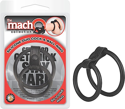 Macho Silicone Duo Cock & Ball Ring