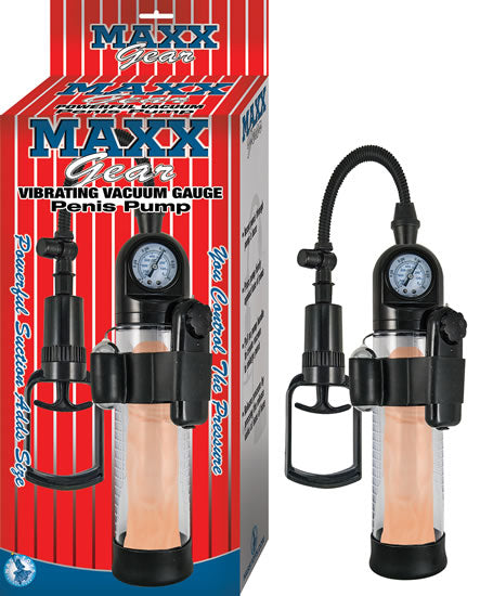 Maxx Gear Vibrating Vacuum Gauge Penis Pump