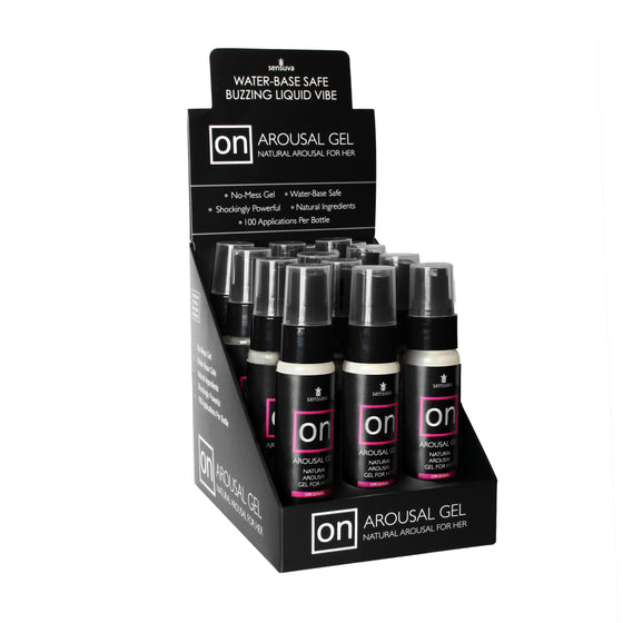 On For Her Arousal Gel Original 12 Pieces Display