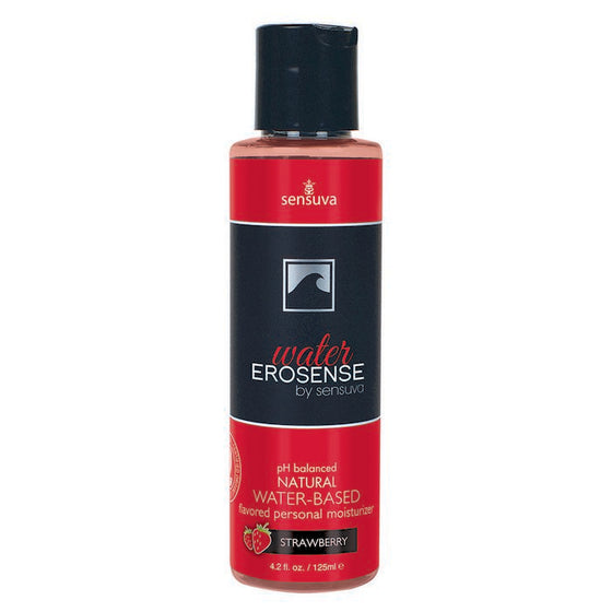 Erosense Water Strawberry Flavored Water Based Lubricant 4.2 Oz.