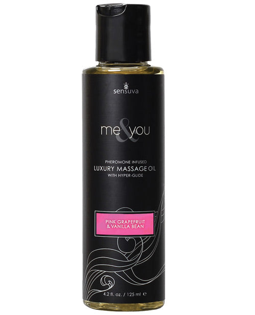 Me & You Massage Oil Grapefrui Vaniilla 4.2 Oz.