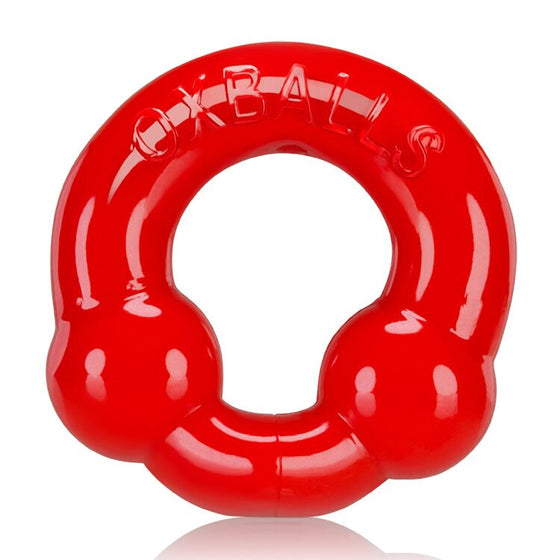 Ultra Balls Cockring 2 Pack SteelRed