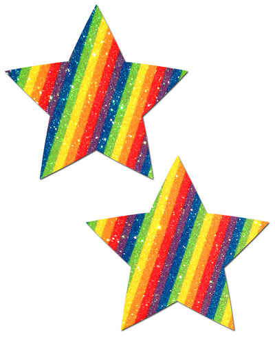 Pastease Rockstar Glittering Double Rainbow Star