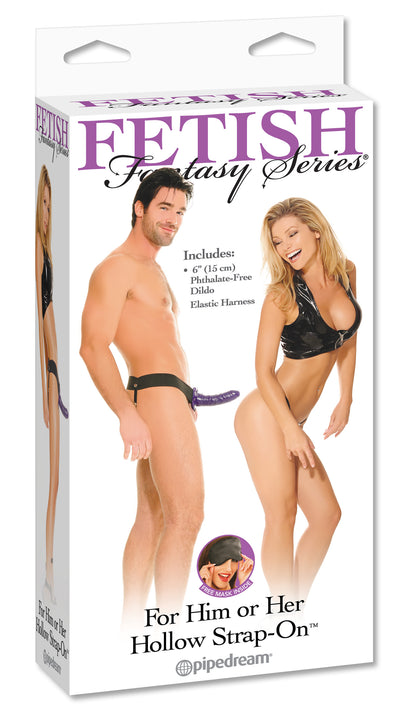 Fetish Fantasy Hollow Strap On For Him Or Her Purple