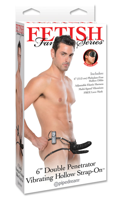 Fetish Fantasy 6in Double Penetrator Vibrating Black