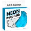 Neon Luv Touch Furry Cuffs Blue