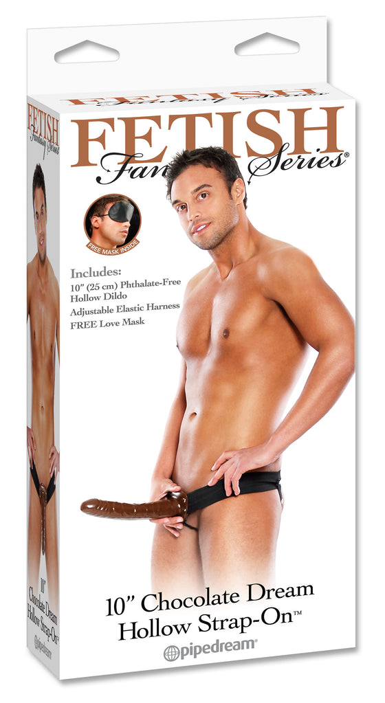 Fetish Fantasy 10in Chocolate Dream Hollow Strap On