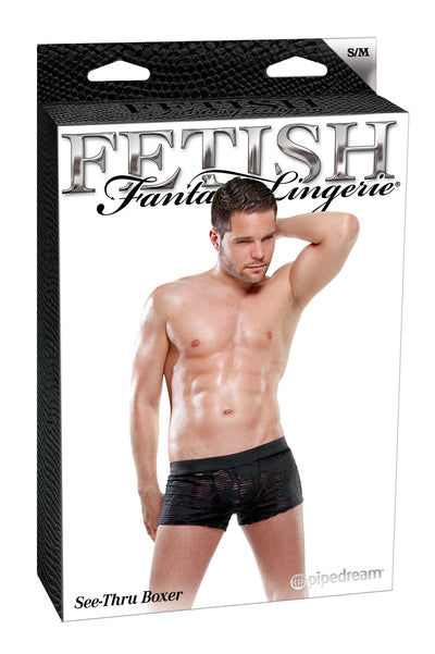 Fetish Fantasy Male See Thru Boxer Small