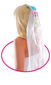Bachelorette Flashing Pecker Wedding Veil