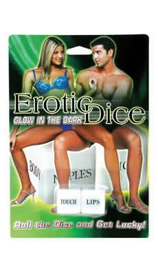 Glow In The Dark Erotic Dice -
