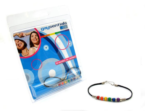Rainbow & Silver Links Bracelet
