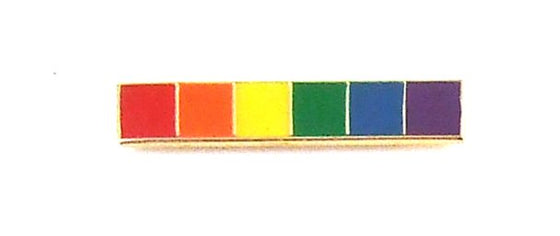 Lapel Pin Rainbow Bar