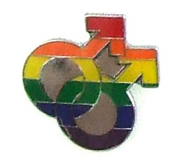 Lapel Pin Rainbow Double Male