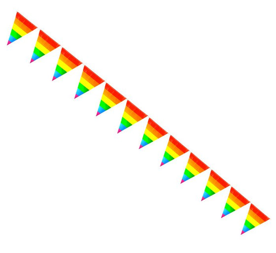 Rainbow Striped Pennants