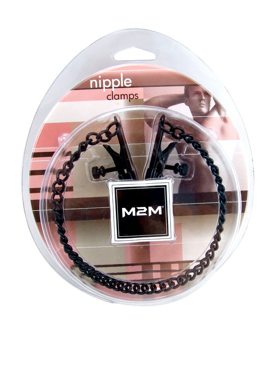 Nipple Clamps Alligator WChain Black