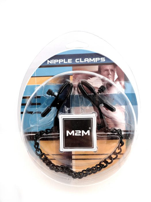 Nipple Clamps Small Plier Black WChain