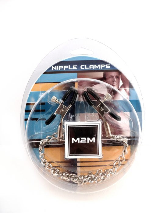 Nipple Clamps Small Plier Chrome WChain