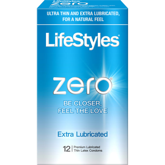 Lifestyles Zero Extra Lubricated 12 Pk