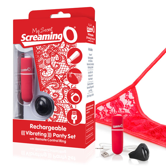 Screaming O My Secret Charged Remote Control Panty Vibrator Red