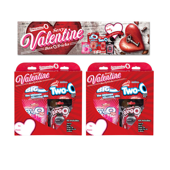 Screaming O 2019 Valentine Box 6 Pieces Display