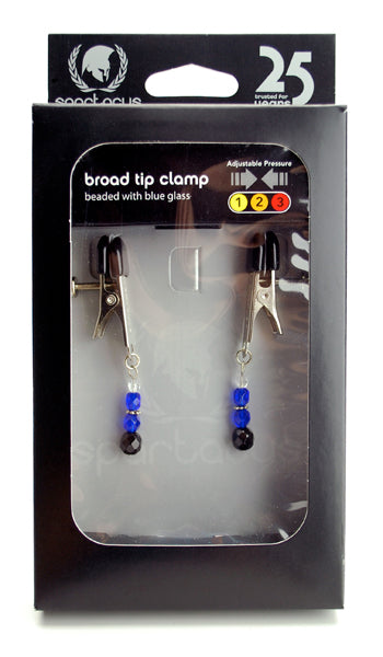 Adj Clamp With Blue Beads